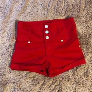 Pants - Red shorts